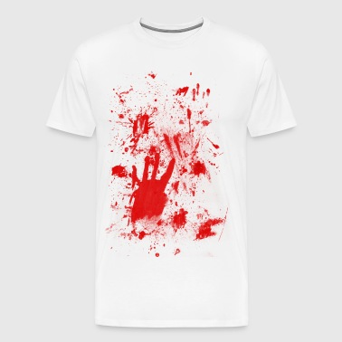 Splashes of blood / blood Smeared - Men's Premium T-Shirt