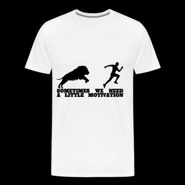 Lion Running Motivation Men Shirt - Men's Premium T-Shirt