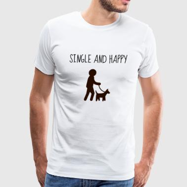 single and happy - Men's Premium T-Shirt
