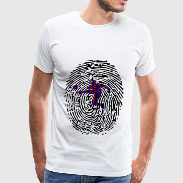 Funny Soccer FCB DNA Fingerprint Gift FC Barcelona - Men's Premium T-Shirt