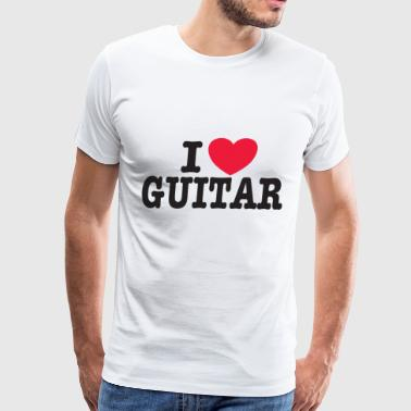 I LOVE GUITAR - Men's Premium T-Shirt