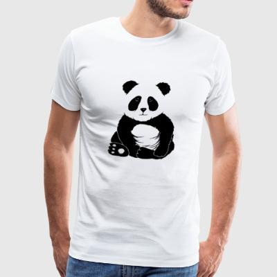 little cool casual chilling panda bear cute gift - Men's Premium T-Shirt