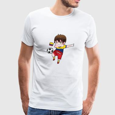 Dab Dabbing Soccer Boy World Cup Colombia Gift - Men's Premium T-Shirt