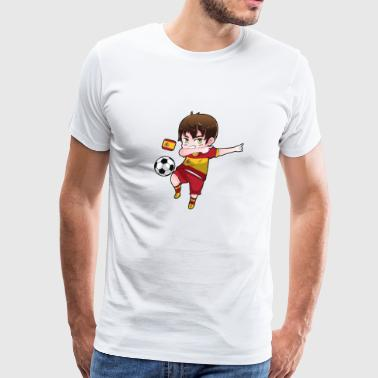Dab Dabbing Soccer Boy World Cup Spain Gift - Men's Premium T-Shirt