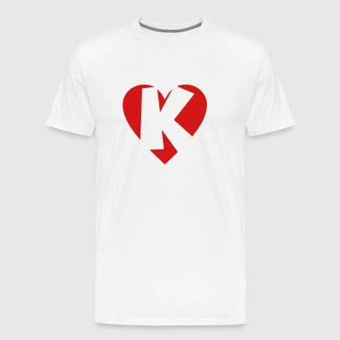 I love K - Heart K - Letter K - Men's Premium T-Shirt