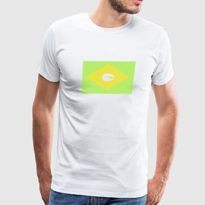 Brazilian flag for proud santero - Men's Premium T-Shirt