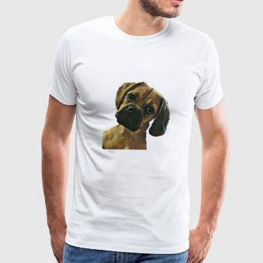 Puggle Head Tilt - Men's Premium T-Shirt