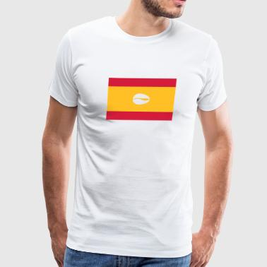Spanish flag for proud santero - Men's Premium T-Shirt