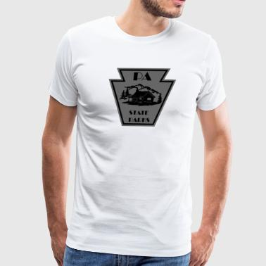 Keystone with Cabin Black and Grey - Men's Premium T-Shirt