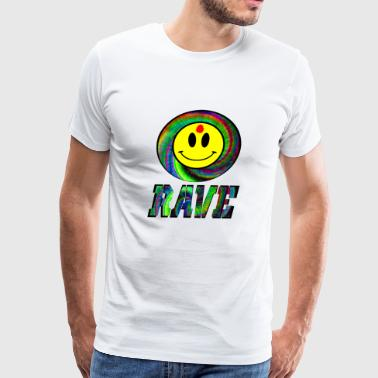 rave bullet hole - Men's Premium T-Shirt
