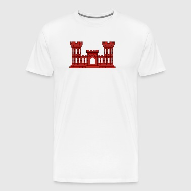 Army Engineer Insignia - Red - Men's Premium T-Shirt