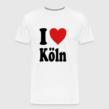 I love Koeln (variable colors!) - Men's Premium T-Shirt