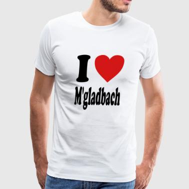 I love Moenchengladbach (variable colors!) - Men's Premium T-Shirt