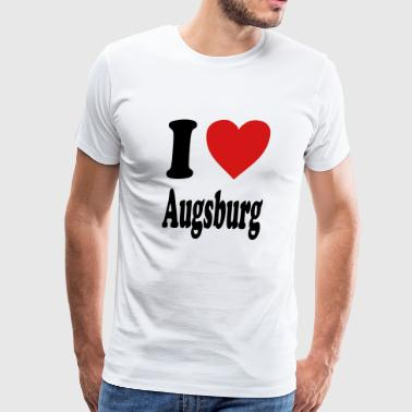 I love Augsburg (variable colors!) - Men's Premium T-Shirt