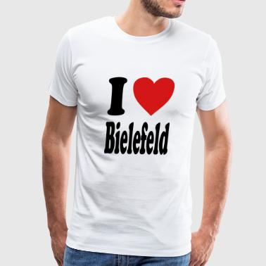 I love Bielefeld (variable colors!) - Men's Premium T-Shirt