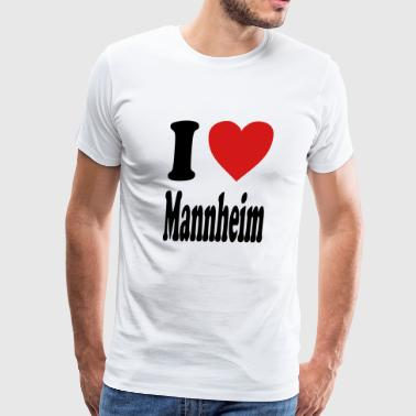 I love Mannheim (variable colors!) - Men's Premium T-Shirt