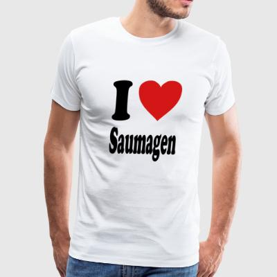 I love Saumagen (variable colors!) - Men's Premium T-Shirt