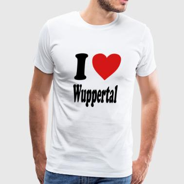 I love Wuppertal (variable colors!) - Men's Premium T-Shirt