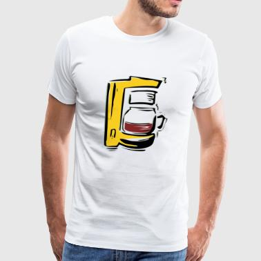 coffee cup beans cafe mug pot kaffee bohnen70 - Men's Premium T-Shirt