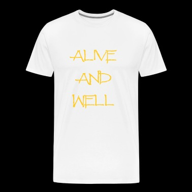 Alive and Well Yellow - Men's Premium T-Shirt