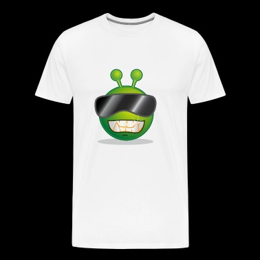 Green Smiley Alien - Men's Premium T-Shirt