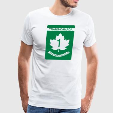 Trans-Canada - Highway 1 - Men's Premium T-Shirt