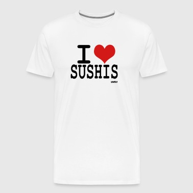 i love sushis by wam - Men's Premium T-Shirt