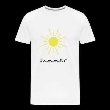 sun summer beach holiday - Men's Premium T-Shirt