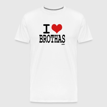 i love brothas by wam - Men's Premium T-Shirt