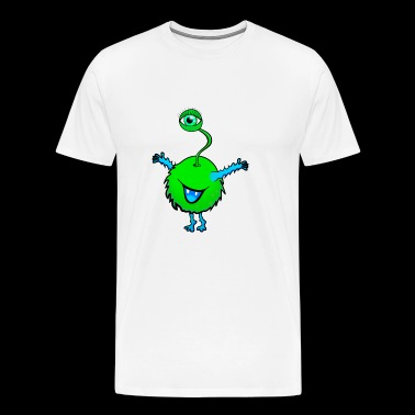 Monster with one Eye - Men's Premium T-Shirt