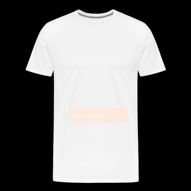Emoto Hidden Messages Powerful (White) - Men's Premium T-Shirt