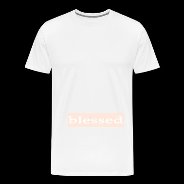 Emoto Hidden Messages Blessed (White) - Men's Premium T-Shirt