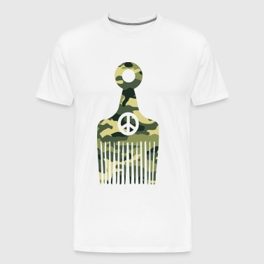 Afro Hair Peace Camo - Men's Premium T-Shirt