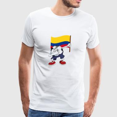 Colombia Dabbing Soccer Ball - Men's Premium T-Shirt