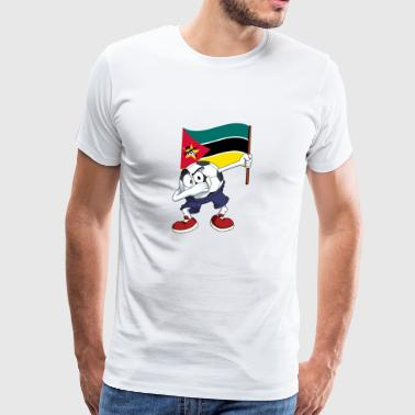 Mozambique Dabbing Soccer Ball - Men's Premium T-Shirt