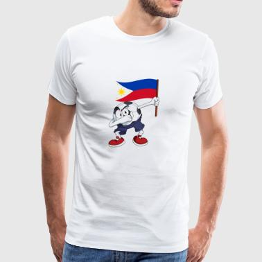 Philippines Dabbing Soccer Ball - Men's Premium T-Shirt