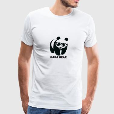 Papa Bear Panda - Men's Premium T-Shirt