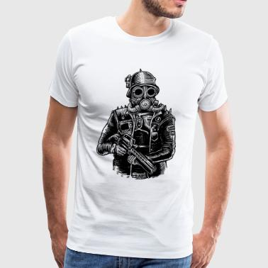 Steampunk Soldier - Men's Premium T-Shirt