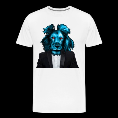 Lion in suit as a gift idea - Men's Premium T-Shirt