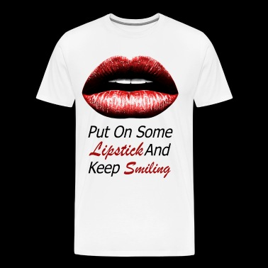 Red lips (black) - Men's Premium T-Shirt