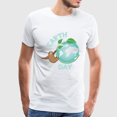 Earth Day Sloth Every Day Earth Day Green Planet Save Our Planet Earth Day 2018 - Men's Premium T-Shirt