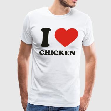 I Love Chicken Funny - Men's Premium T-Shirt