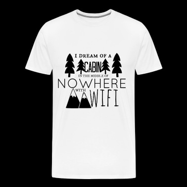 Cabin with Wifi - Men's Premium T-Shirt