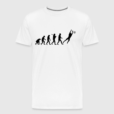 Evolution of Goalkeeper - Men's Premium T-Shirt