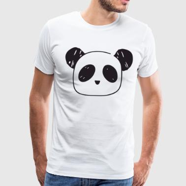 Panda Bear Top Crop Tank Womens Girls Cute Funny H - Men's Premium T-Shirt