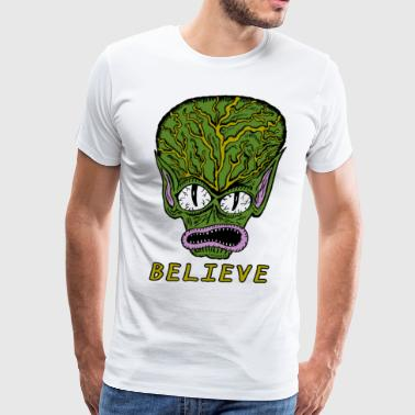 Believe Alien T Shirt - Men's Premium T-Shirt
