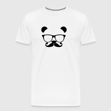 Panda with glasses and mustache - Men's Premium T-Shirt