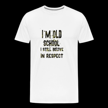 Im old school - Men's Premium T-Shirt