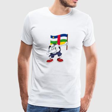 Central African Republic Dabbing Soccer Ball - Men's Premium T-Shirt