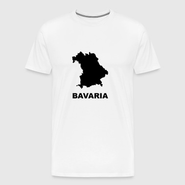 Bavaria map - Men's Premium T-Shirt